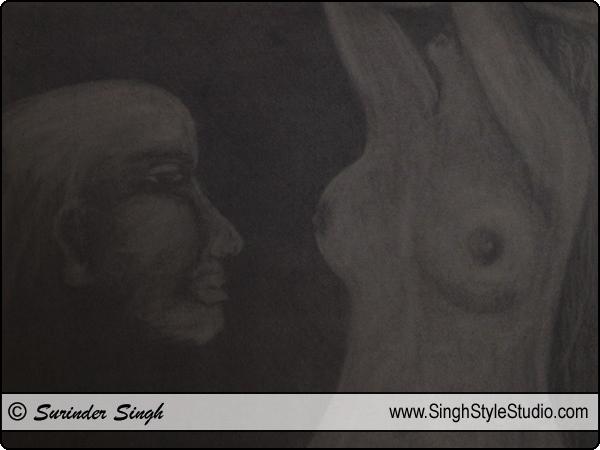 Figurativen Kunst, Neu Delhi, Indien